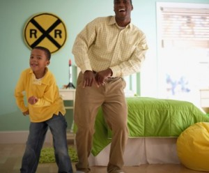 Father Son Happy Dance - Increase Your Productivity