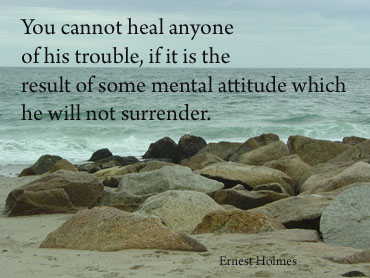 Ernest Holmes Quote with Cape Cod beach background